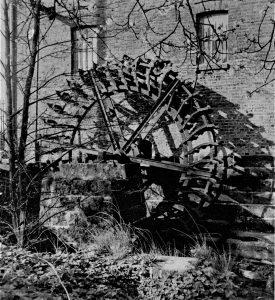 Historisches Rickelrath Mühlrad Buschmühle