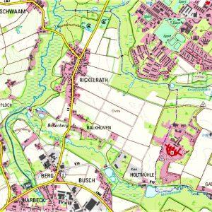 Karte Rickelrath und Umgebung