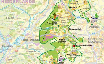 Rickelrath Top 10 Rheinland- Karte Naturpark Schwalm Nette