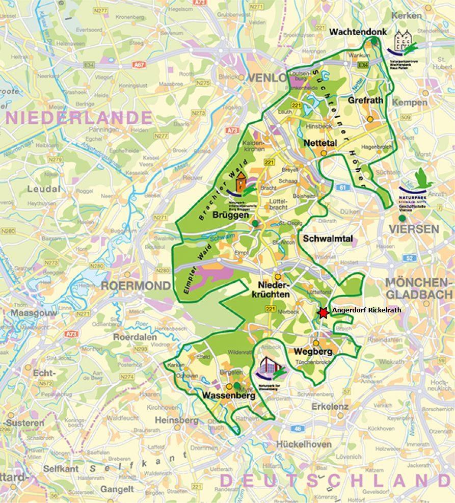 Karte Naturpark Schwalm Nette