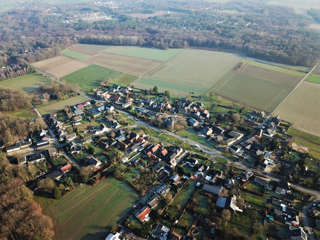 Luftaufnahme Angerdorf Rickelrath