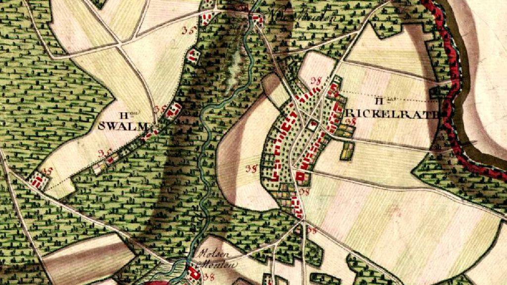 Rickelrath Top 10 Rheinland Geschichte Rickelrath Ferraris Karte 1777