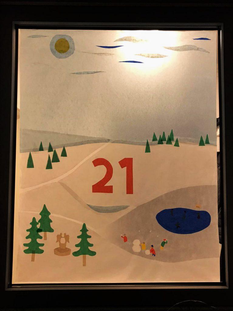 Winterlandschaft lebendiger Adventskalender