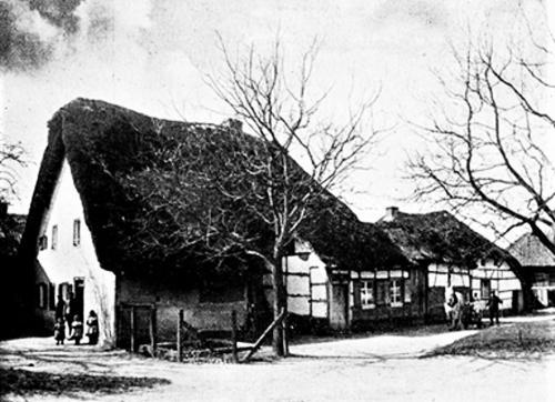 Historisches Rickelrath Reetgedeckte Fachwerkhüser Schwaamerstrasse