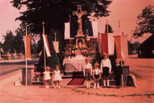 Historisches Rickelrath Fronleichnam Dorfkreuz