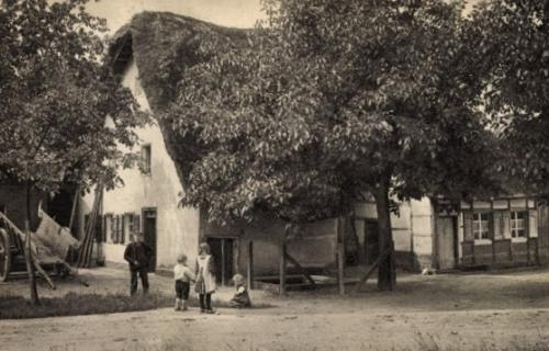 Historisches Rickelrath Reetgedeckte Häuser Schwaamerstrasse Angerweg