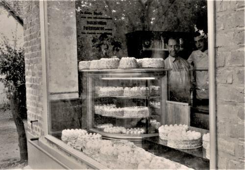 Historisches Rickelrath Auslage alte Bäckerei