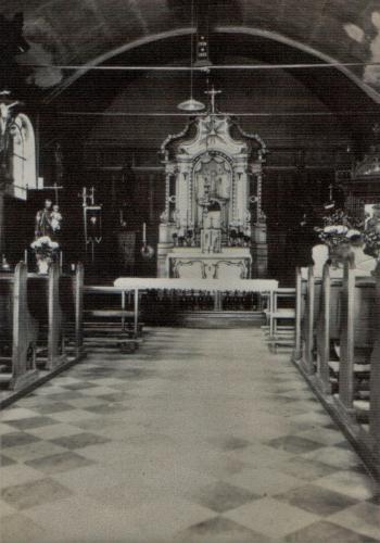 Historisches Rickelrath Innenraum Kirche vor Umbau